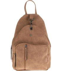 mochila gancho marrón i-d