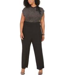 love squared trendy plus size glitter-top jumpsuit