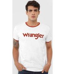 camiseta wrangler logo branca - kanui