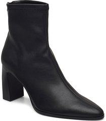 punto shoes boots ankle boots ankle boot - heel svart mango