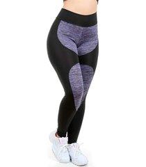 calça legging galvic detalhe risca e suplex liso lilás