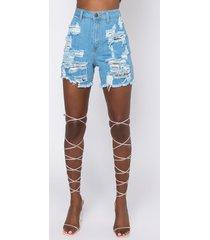akira summer vibe distressed denim shorts