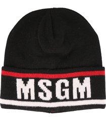 msgm msgm logo beanie