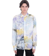 gcds shirt in multicolor polyester