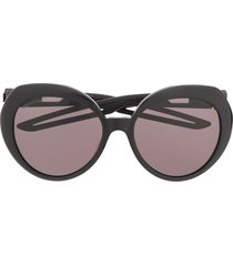 balenciaga eyewear hybrid butterfly sunglasses - black