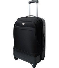 "maleta de viaje mediana híbrido 24"" negro - explora"