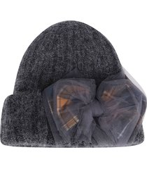 ca4la grey mohair-wool blend hat