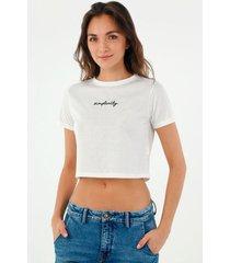 tshirt para mujer topmark, tshirt entero bordado simplicity