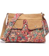 brenice borsa a tracolla a spalla floreale casual in tela vintage borsa per donna