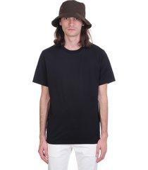 acne studios everest t-shirt in black cotton