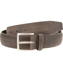 orciani man taupe 3.5cm suede cloudy belt