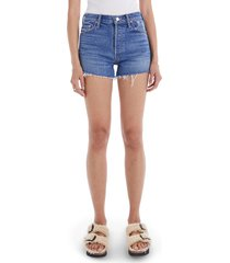 mother the tomcat fray hem denim shorts, size 25 in playing with scissors at nordstrom