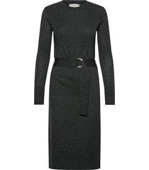 dress ls knälång klänning grå rosemunde