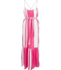 lemlem zoya striped beach dress - pink