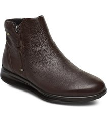 aquet shoes boots ankle boots ankle boots flat heel brun ecco