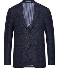 bs lazio slim blazer colbert blauw bruun & stengade