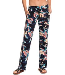 roxy juniors' oceanside floral-print pants
