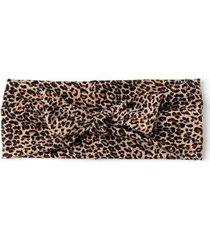 lila leopard headband - leopard