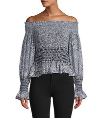 dot-print off-the-shoulder top