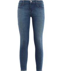 low-rise crop skinny jeans