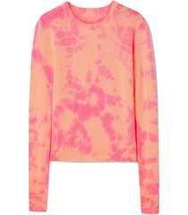 hot tranquility tie-dyed cashmere sweater