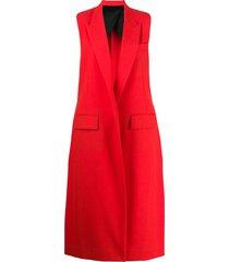 ami paris longline sleeveless waistcoat - red