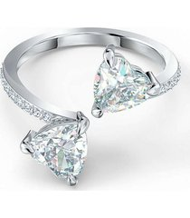 anillo , blanco, chapado en rodio 5535192