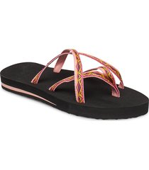 w olowahu shoes summer shoes flat sandals orange teva
