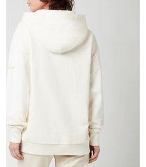 holzweiler women's regular peach print hoodie - ecru - l