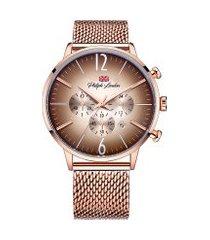 relógio cronógrafo philiph london masculino - pl80160613mmr rosê