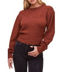 women's astr the label samantha sweater, size x-small - brown