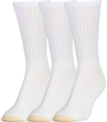 goldtoe women's 3-pk. extended aquafx crew socks
