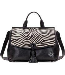 patricia nash zebra haircalf mollia leather satchel