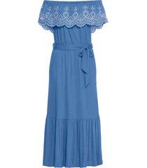 abito con spalle scoperte e cintura (blu) - bodyflirt