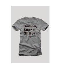 camiseta reserva samba, suor e glitter masculina