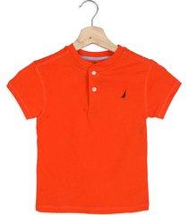 camiseta naranja nautica