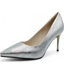 zapato cuero de fiesta paris plata toffy co.
