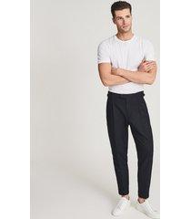 reiss express - herringbone slim-fit pants in, mens, size 38