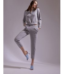 motivi giacca in felpa lurex donna grigio