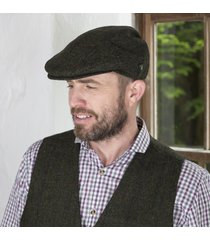 irish wool trinity flat cap green large