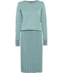 abito in maglia plissettato a maniche lunghe (blu) - bodyflirt