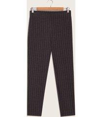 pantalón de rayas negro negro 16