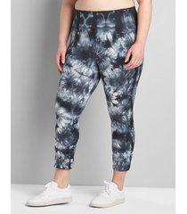 lane bryant women's livi high-rise signature stretch capri legging 38/40 core tie dye