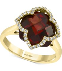 effy rhodolite garnet (8-1/10 ct. t.w.) & diamond (1/5 ct. t.w.) ring in 14k gold