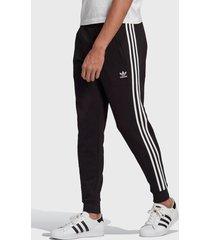 pantalón de buzo adidas originals 3-stripes pant negro - calce regular