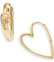 women's kendra scott ansley small heart hoop earrings