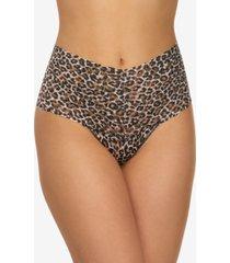 hanky panky women's one size leopard-print retro thong 2x1924