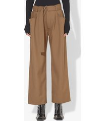 proenza schouler drop waisted belted pants khaki/green 2