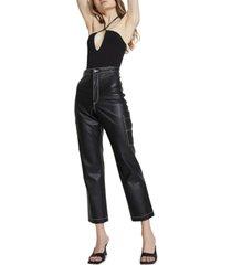 bardot slinky keyhole-neck bodysuit