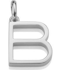 alphabet pendant b, sterling silver